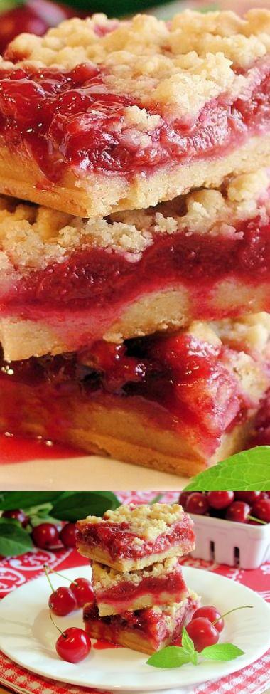 Cherry Pie Crumble Bars - Best Ever