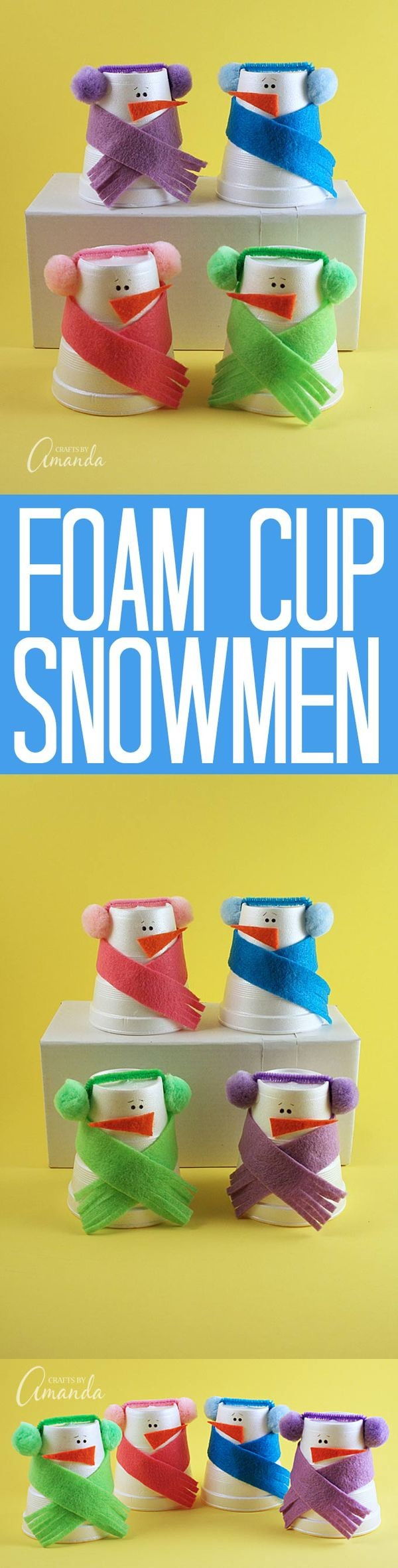 Foam Cup Snowmen