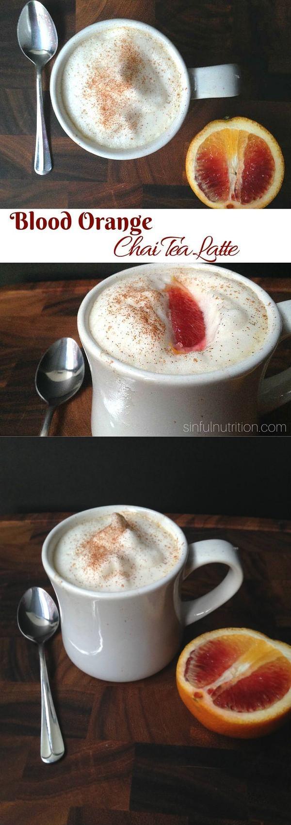 Blood Orange Chai Tea Latte