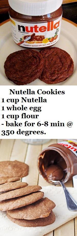 Easy Nutella Cookies - Only 4 Ingredients