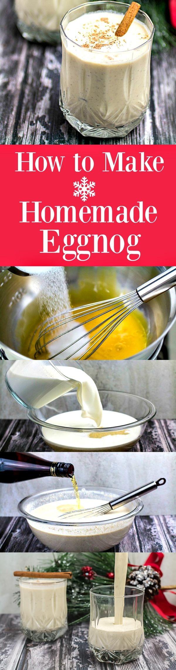 How to Make Homemade Eggnog