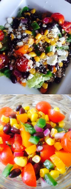 Roasted Corn and Black Bean Salad (21 Day Fix