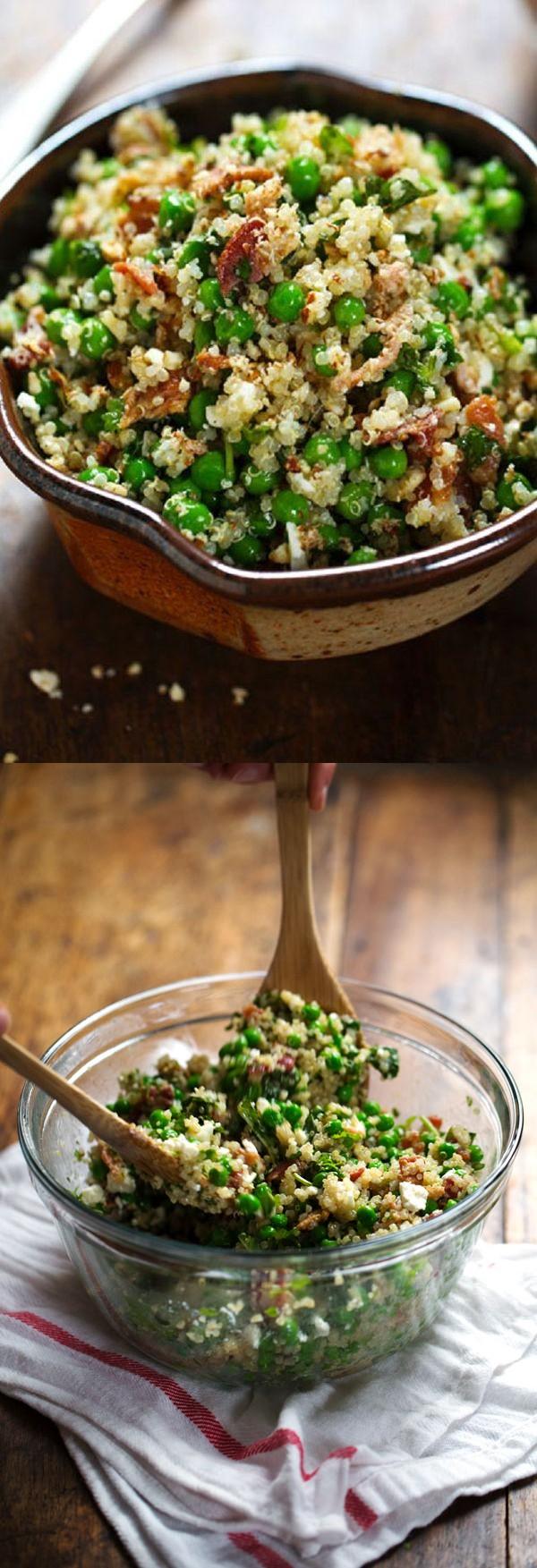 Spring Quinoa Salad with Honey Lemon Vinaigrette