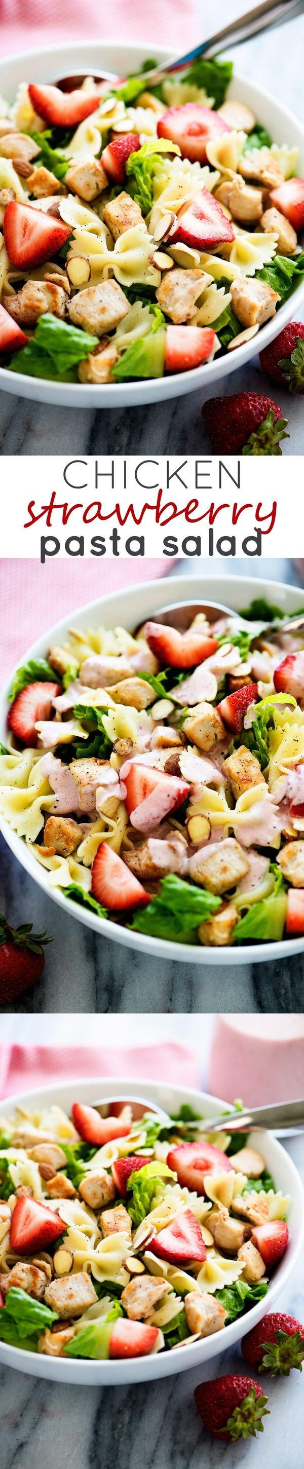 Chicken Strawberry Pasta Salad