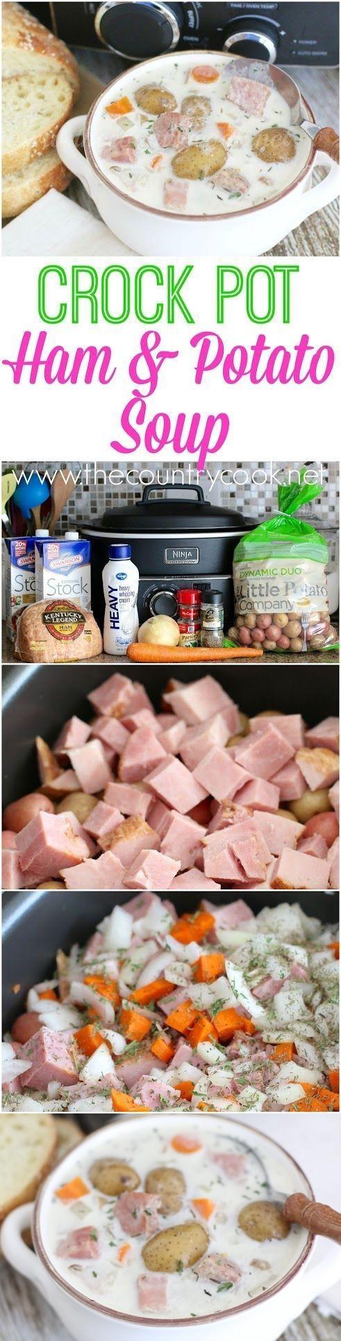 Crock Pot Potato and Ham Soup