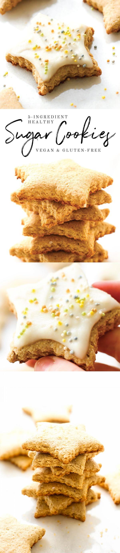 Easy Vegan Sugar Cookie Stars