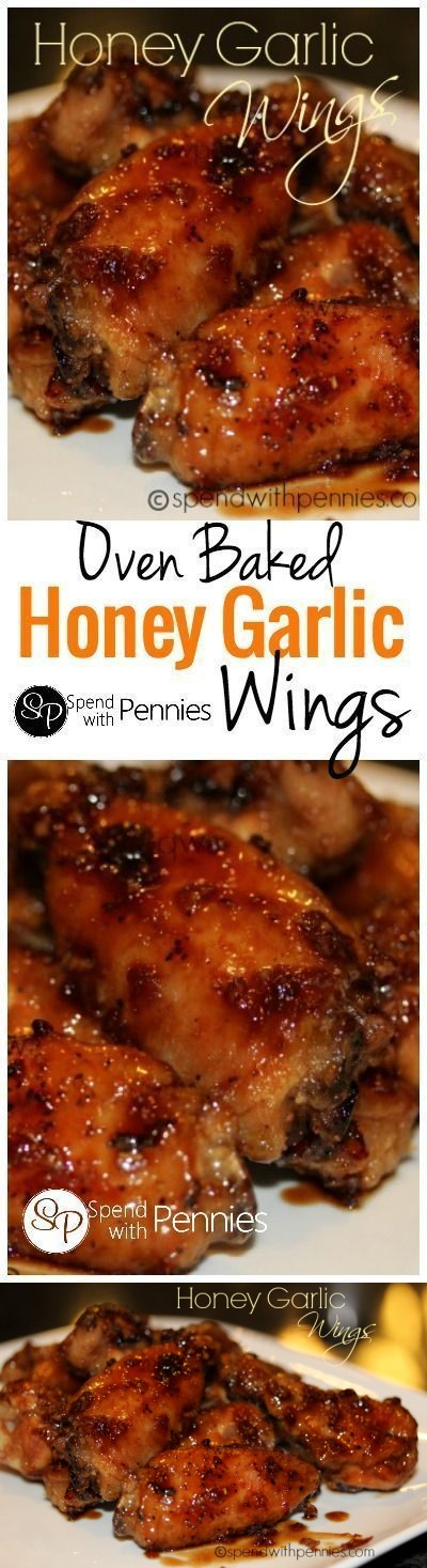 Honey Garlic Wings (Oven Baked