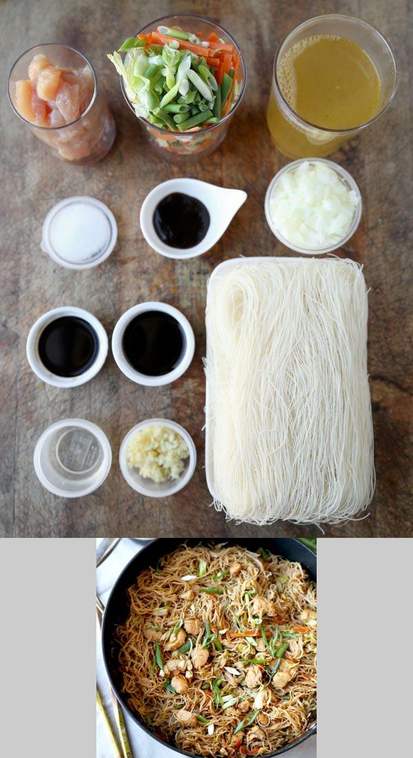 Bihon Pancit Recipe (Filipino