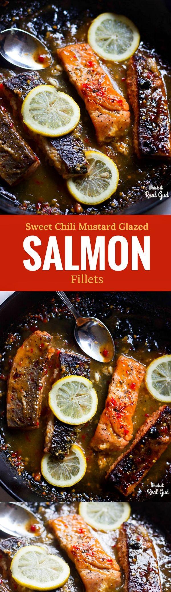 Chrissy Teigen's Sweet Chili and Mustard Glazed Salmon Fillets