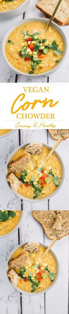 Creamy Vegan Corn Chowder