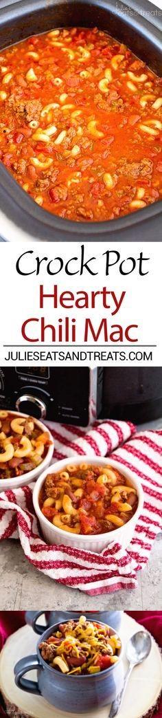 Crock Pot Hearty Chili Mac