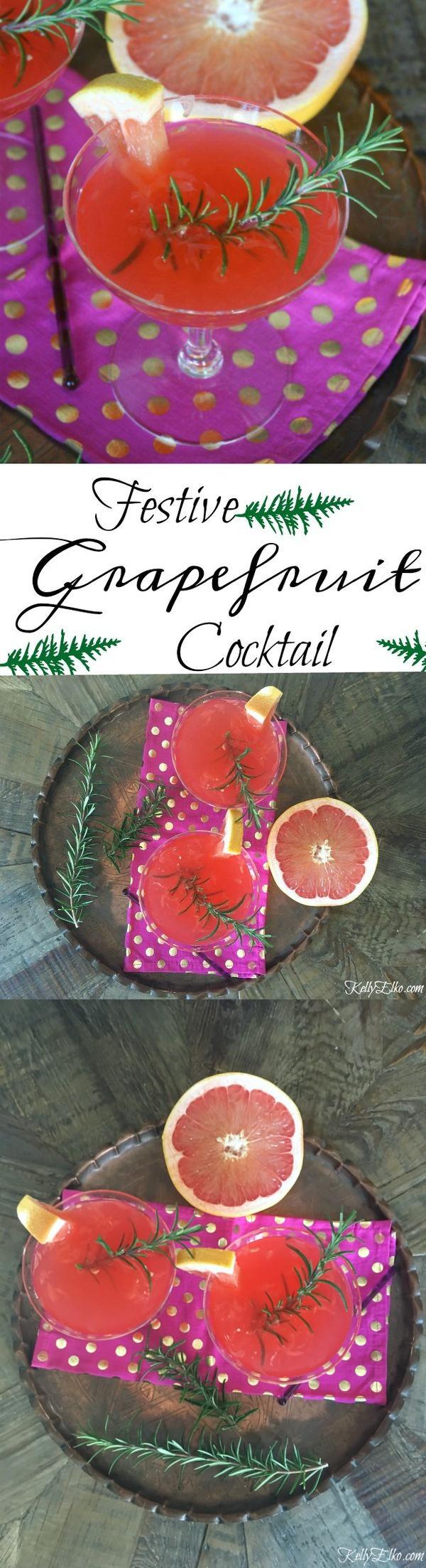 Festive Grapefruit Cocktail