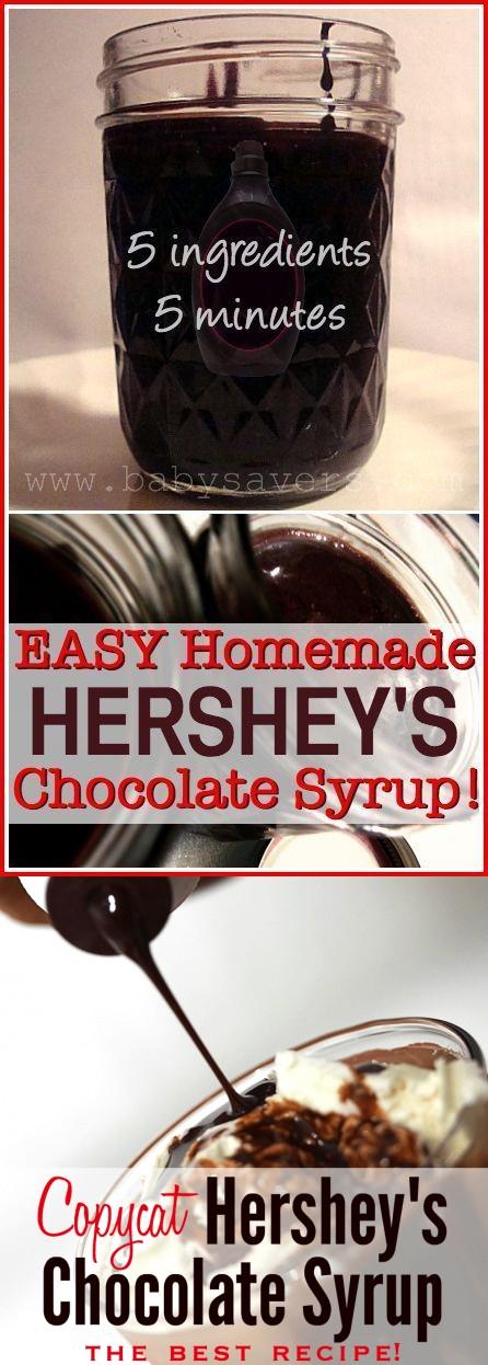 Homemade Hershey's Chocolate Syrup