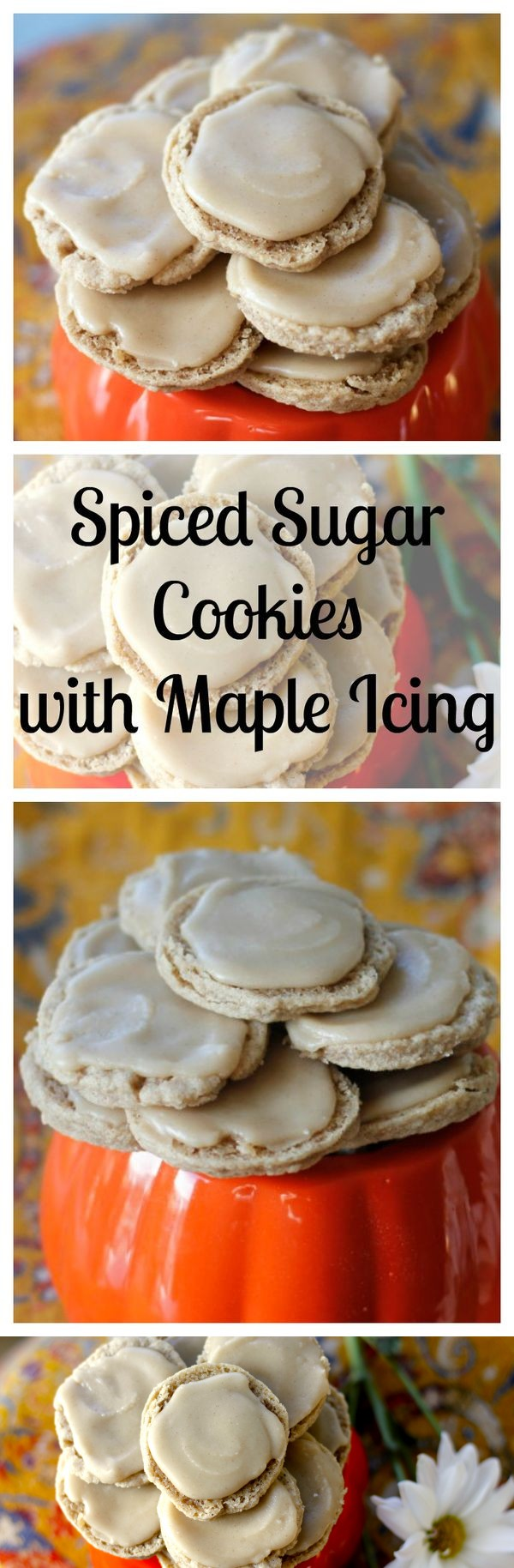 Spiced Sugar Cookies with Maple Icing