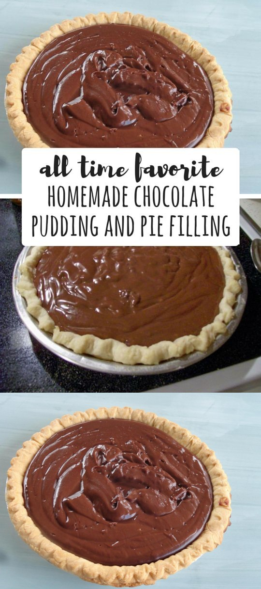 ALL TIME FAVORITE Chocolate Pudding and Pie Filling Homemade By Freda