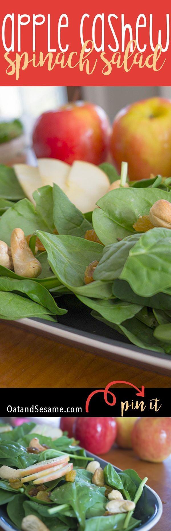 Apple-Cashew Spinach Salad