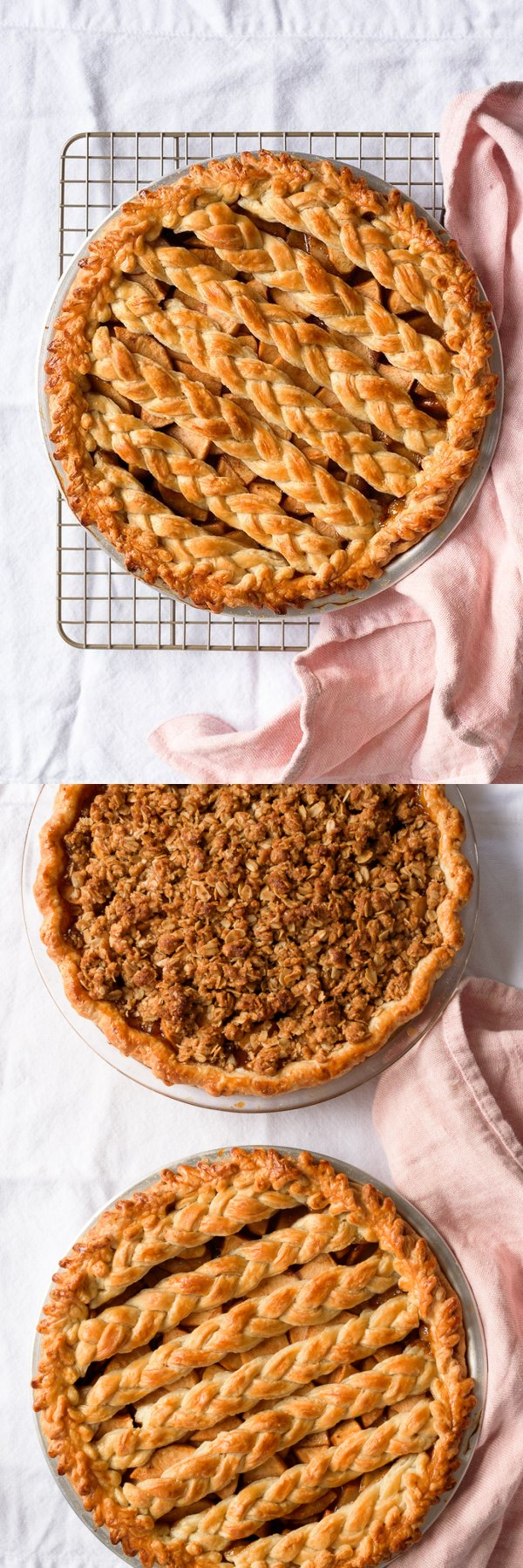 Chai Spiced Apple Pie, Two Ways