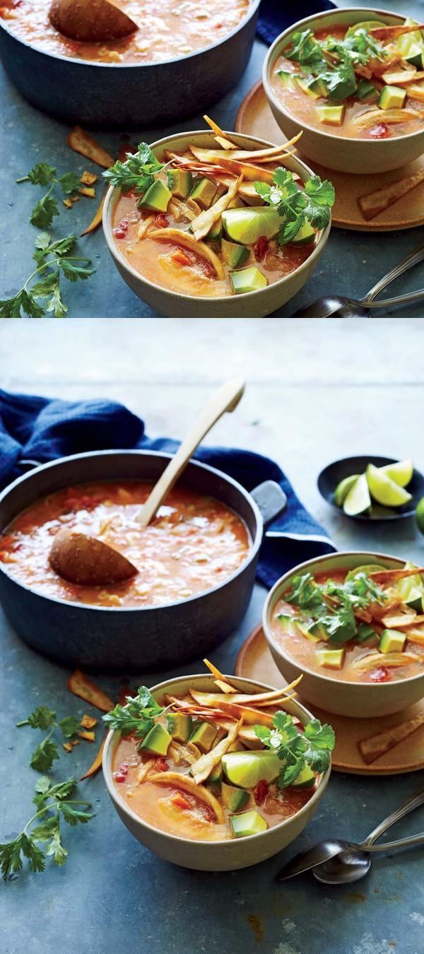 Chicken-Poblano Tortilla Soup