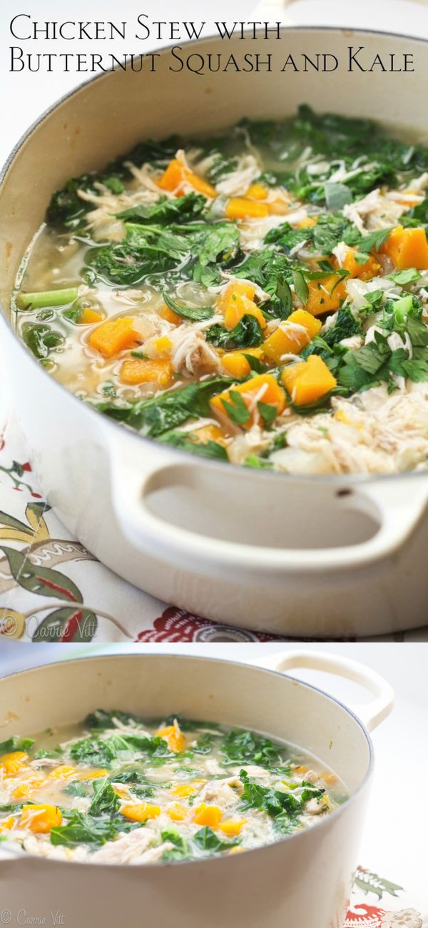 Chicken Stew with Butternut Squash and Kale (Gaps, Paleo, Grain-Free