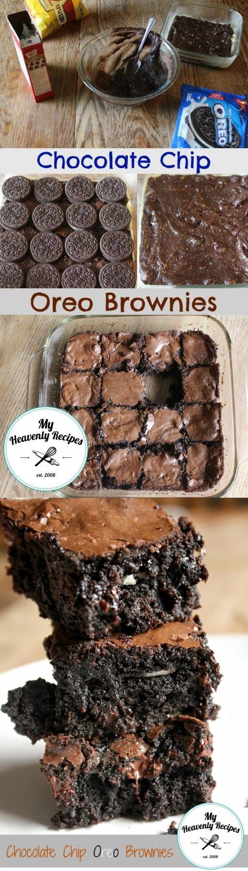 Chocolate Chip Oreo Brownie