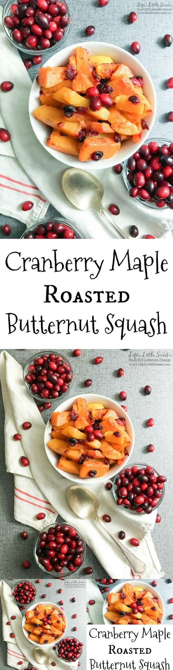 Cranberry Maple Roasted Butternut Squash