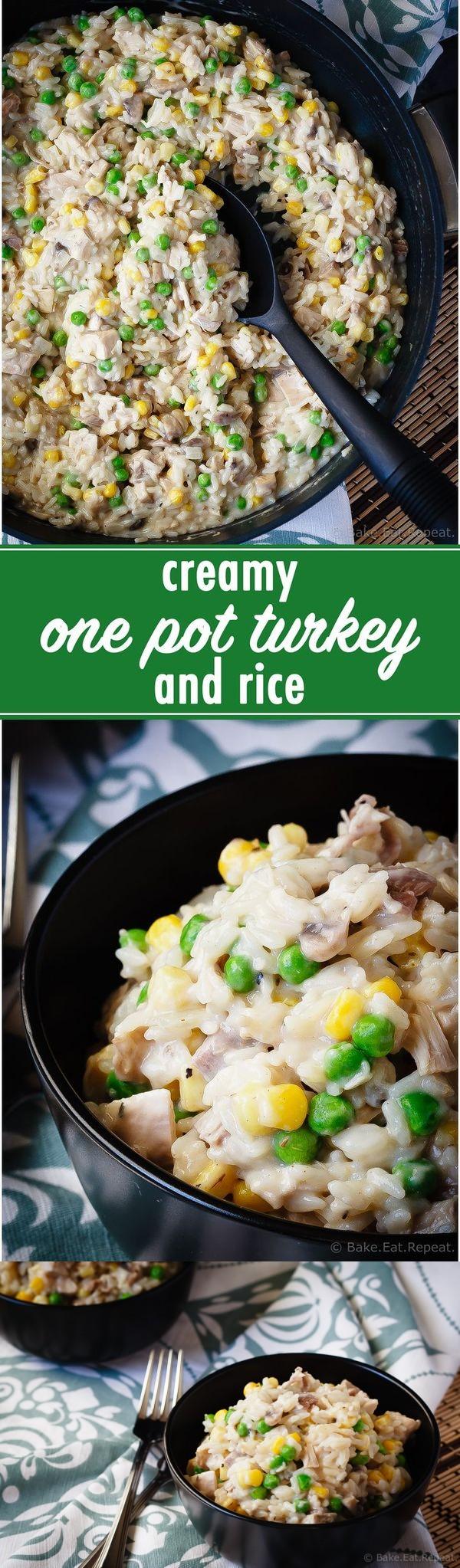 Creamy One Pot Turkey and Rice