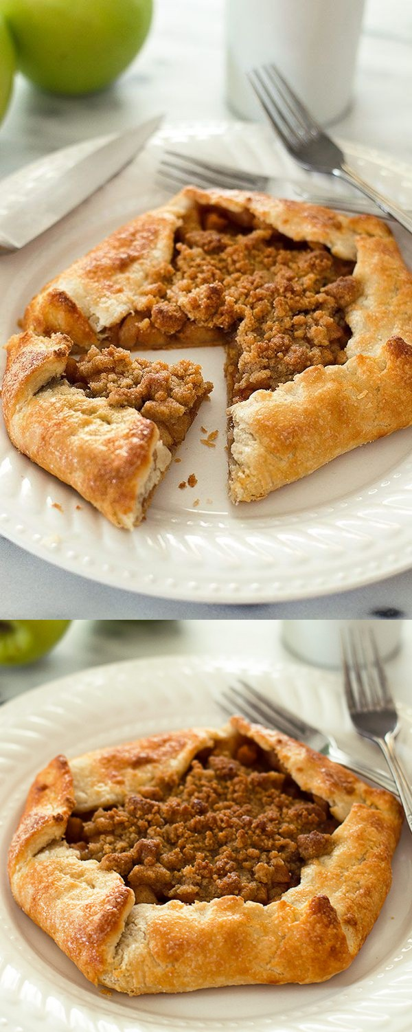 Dutch Apple Galette for Two
