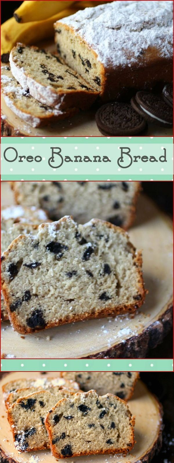 Easy Banana Bread with Oreos