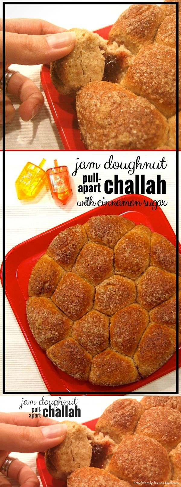 Jam doughnut pull-apart challah