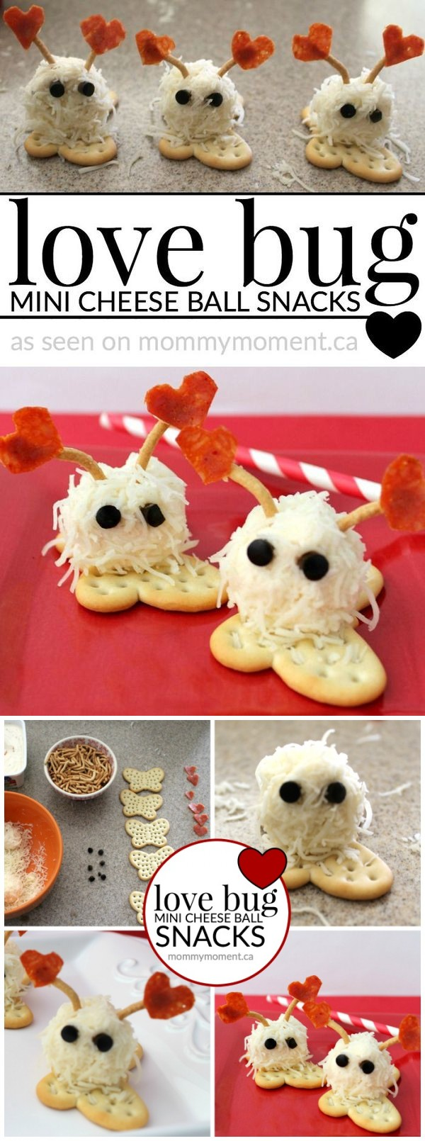 Love bug mini cheese balls snack
