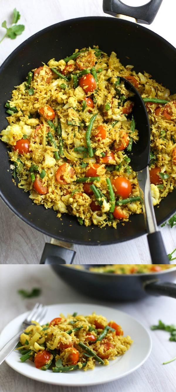 Low-carb tikka cauliflower rice