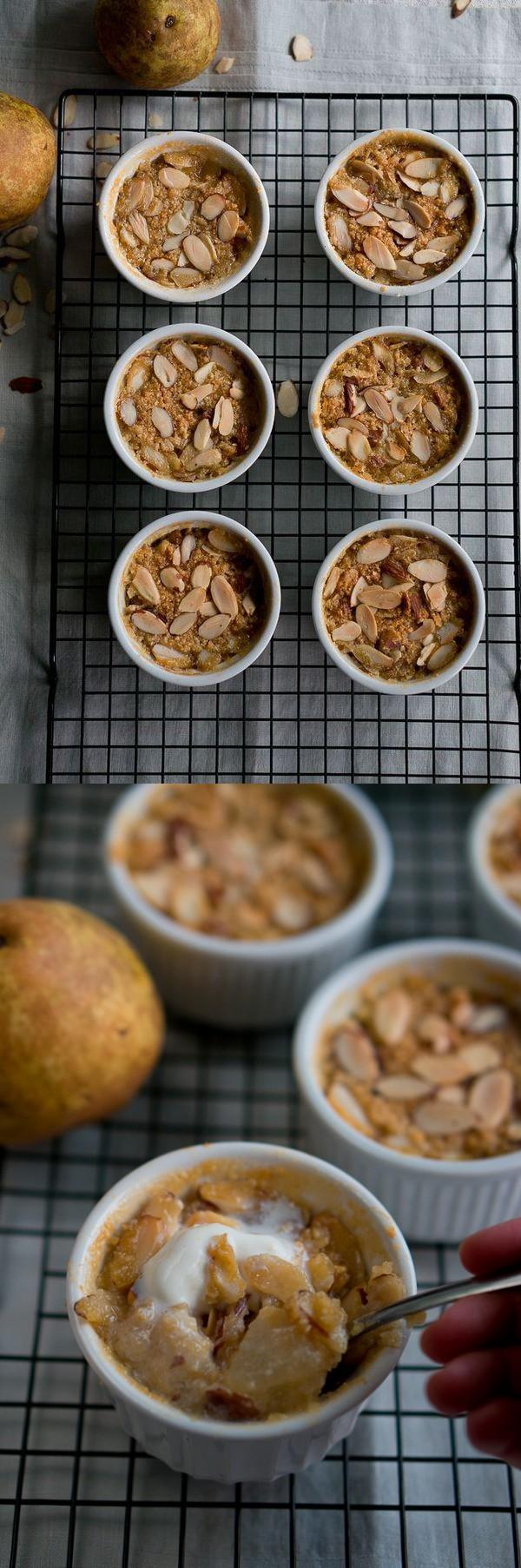Paleo Pear and Almond Crisp