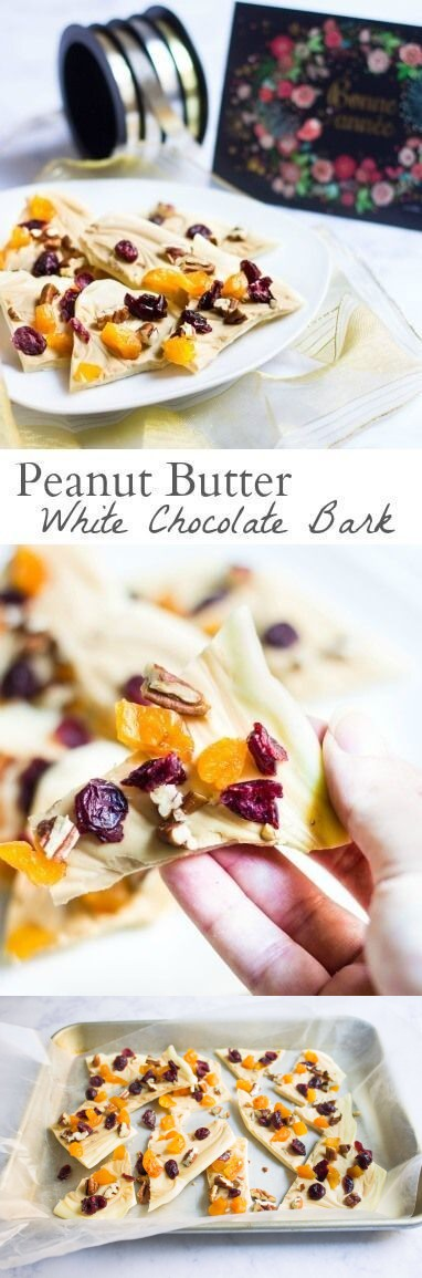 Peanut Butter White Chocolate Bark
