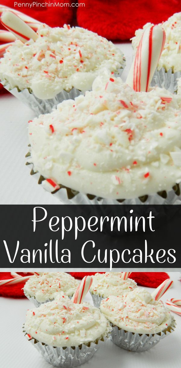 Peppermint Vanilla Cupcakes