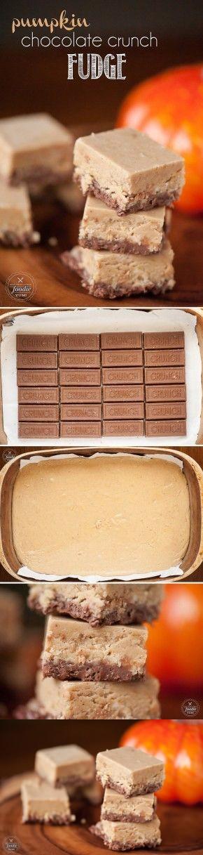 Pumpkin Chocolate Crunch Fudge