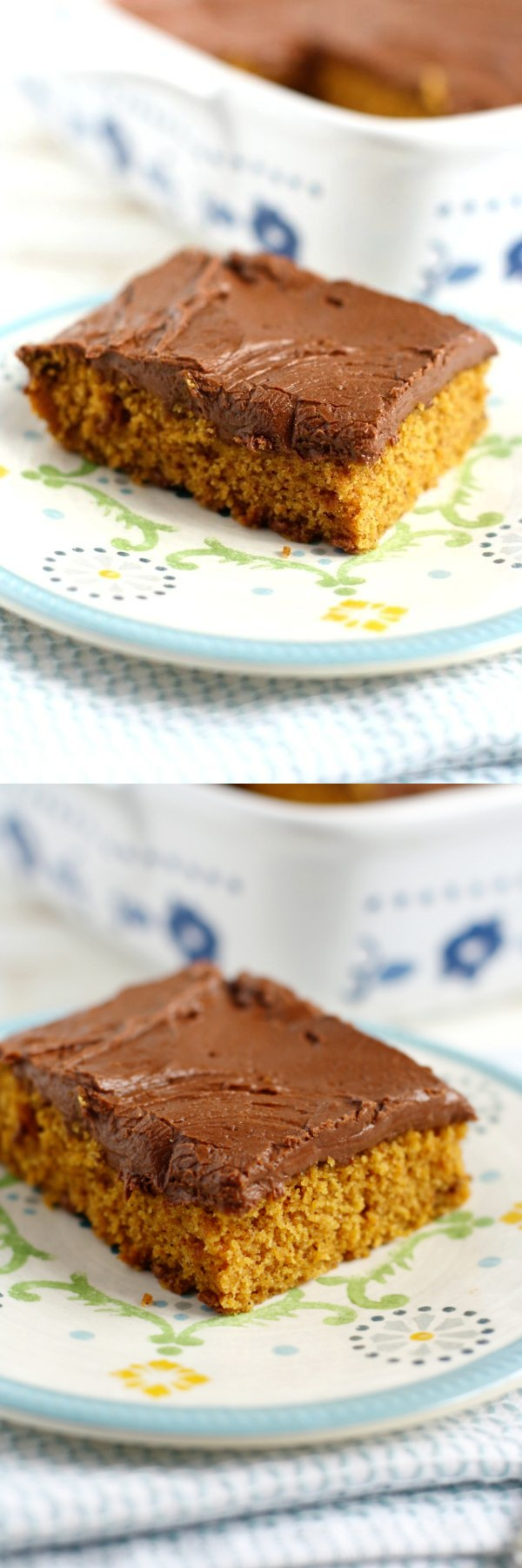Pumpkin Sheet Cake with Chocolate Frosting (Vegan, Gluten Free