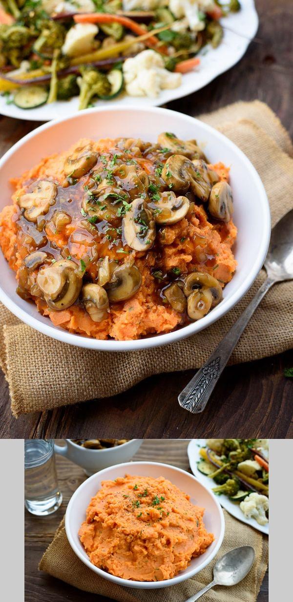 Rosemary Mashed Vegan Sweet Potatoes