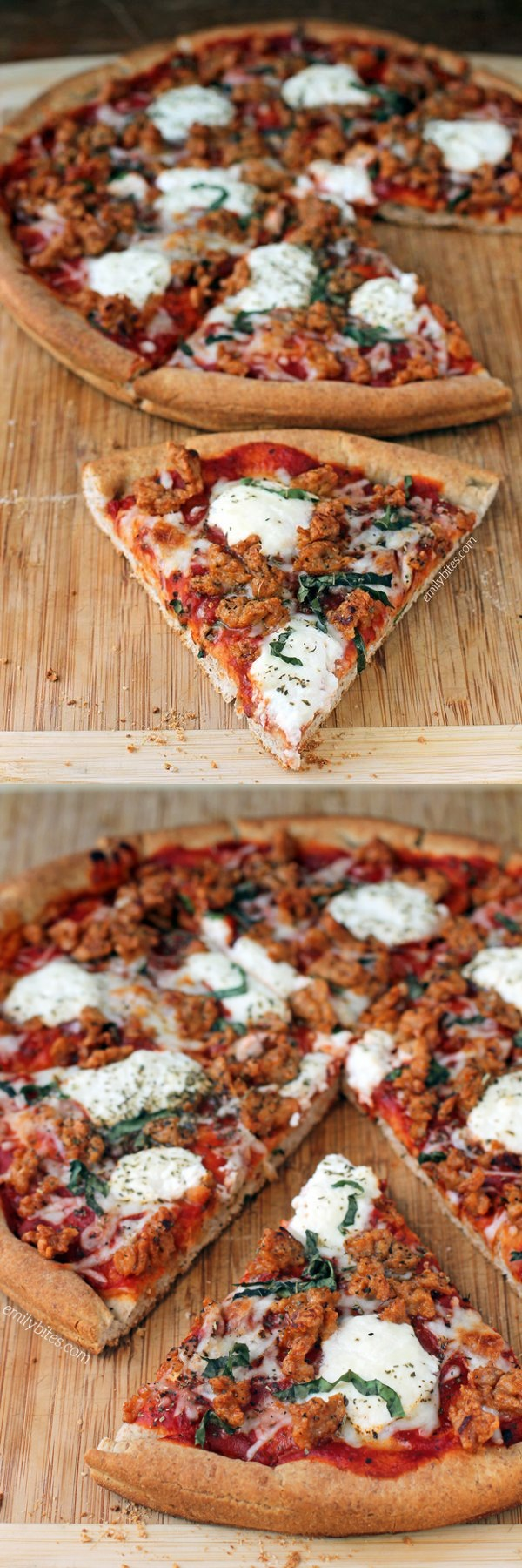 Sausage and Ricotta Pizza