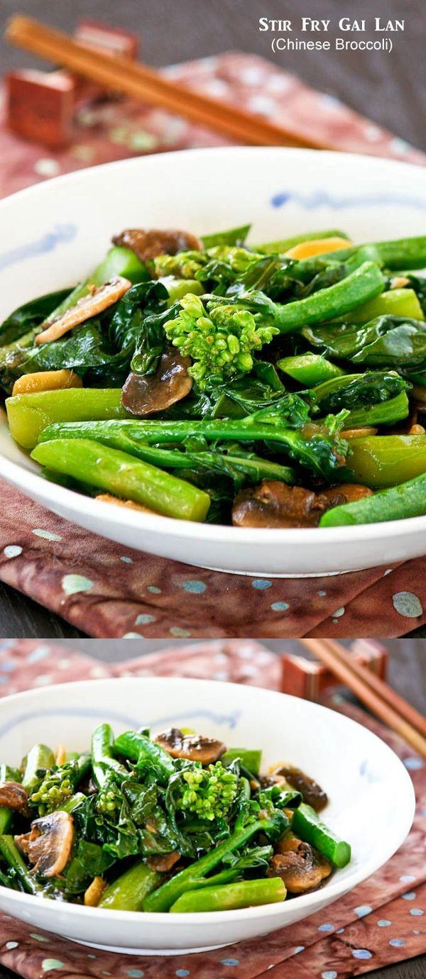 Stir Fry Gai Lan (Chinese Broccoli