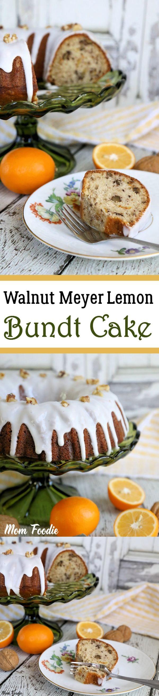 Walnut Meyer Lemon Bundt Cake