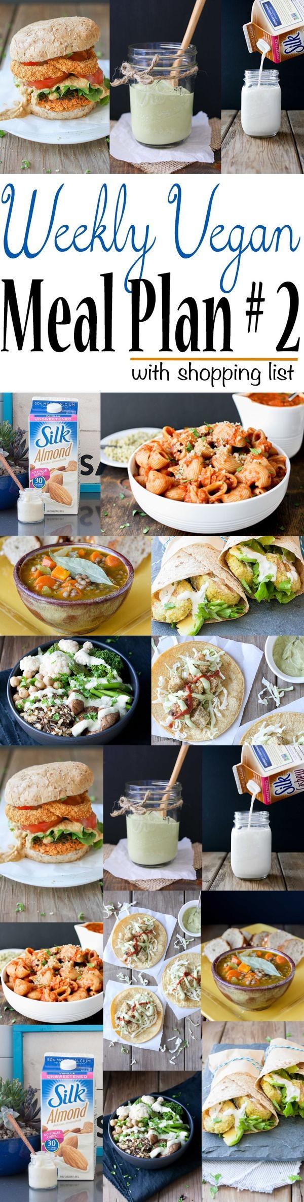 Weekly Vegan Meal Plan 2 Shopping List