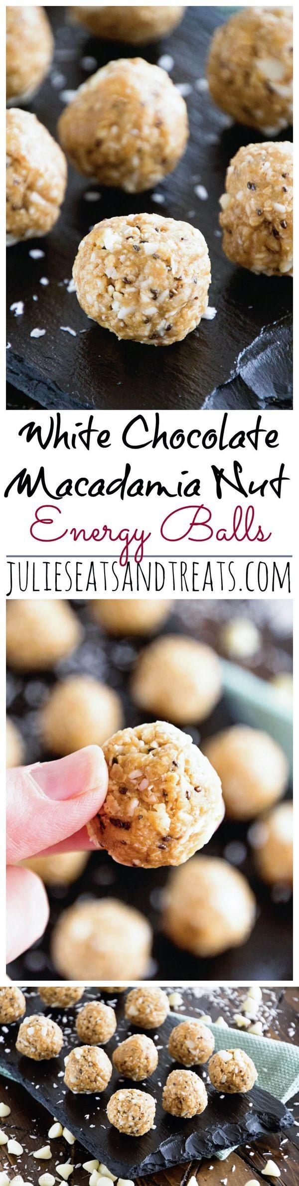 White Chocolate Macadamia Nut Energy Balls