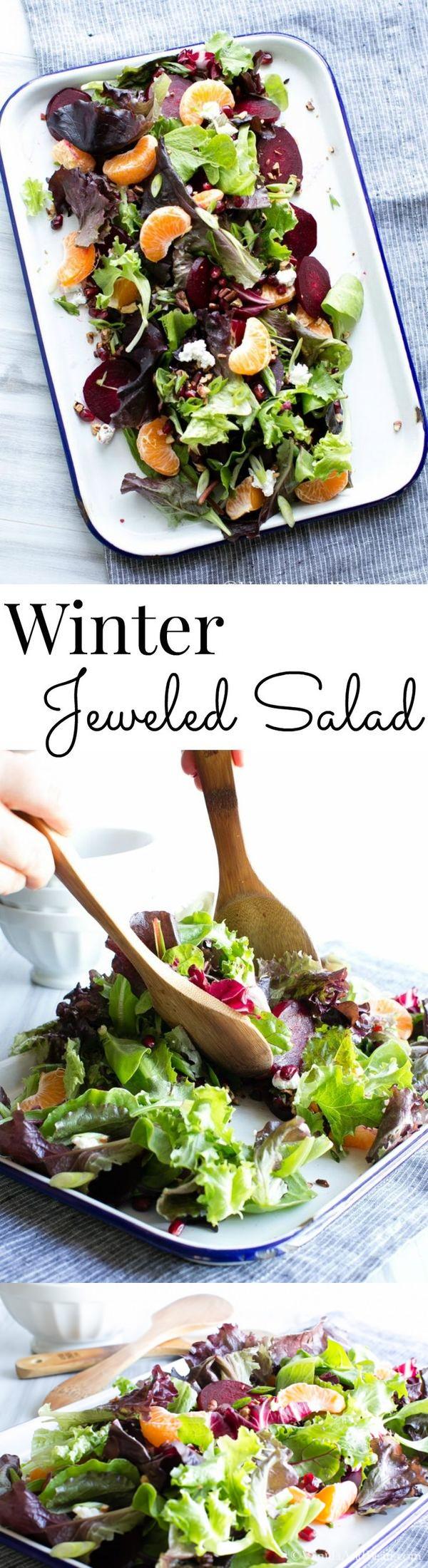 Winter Jeweled Salad