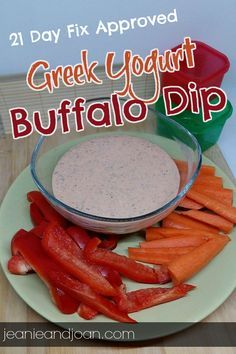 21 Day Fix Greek Yogurt Buffalo Dressing Dip