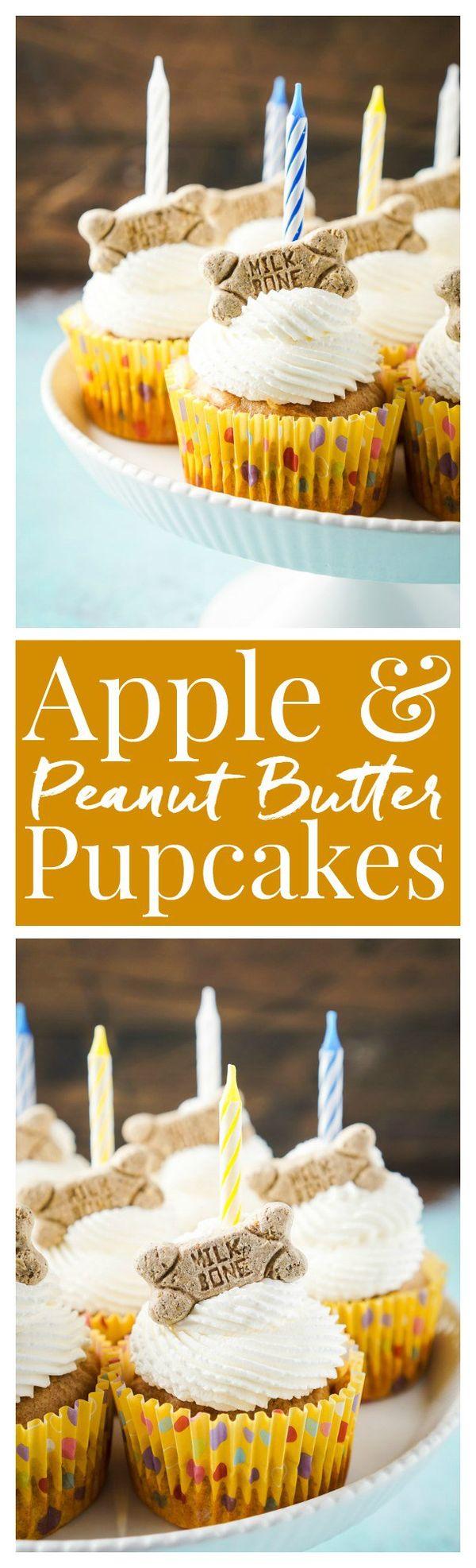 Apple & Peanut Butter Pupcakes