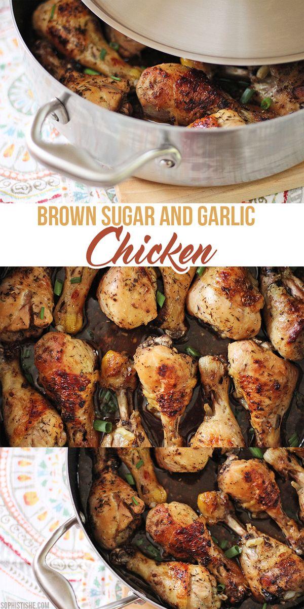 Baked Brown Sugar & Garlic Chicken