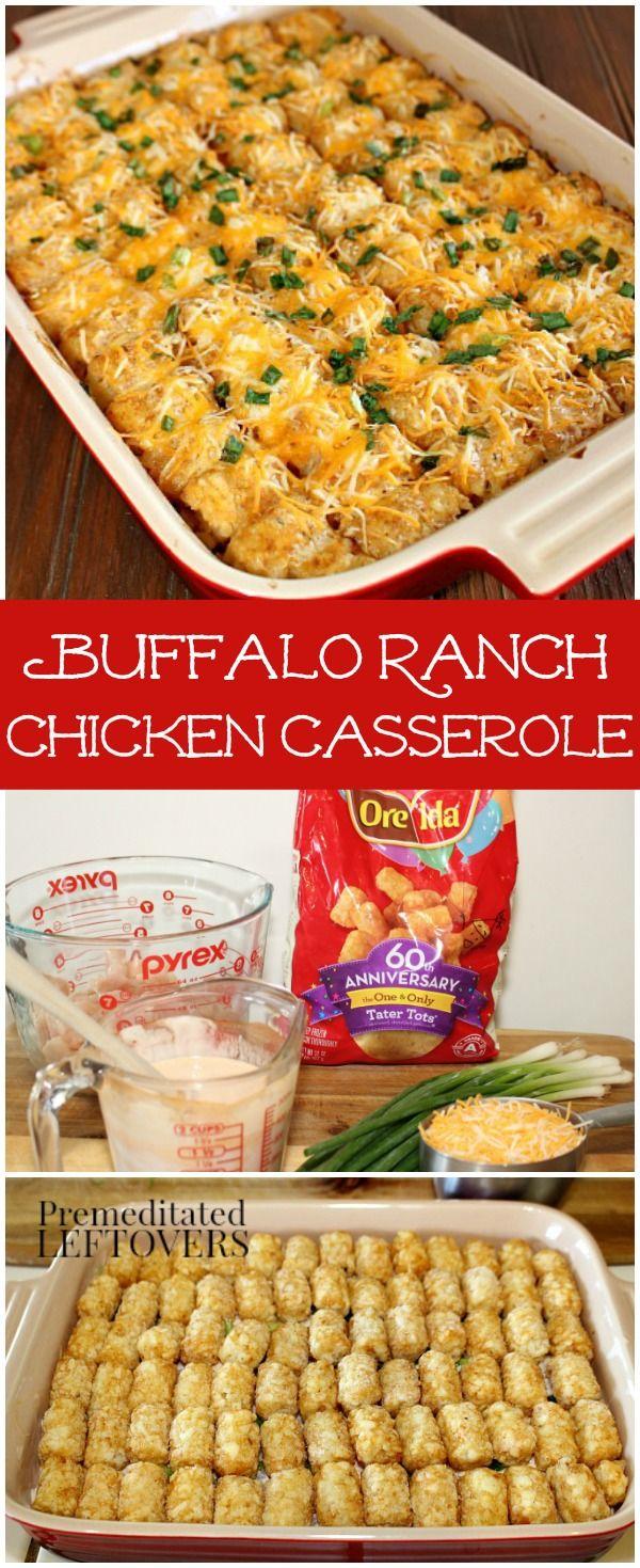 Buffalo Ranch Chicken Casserole