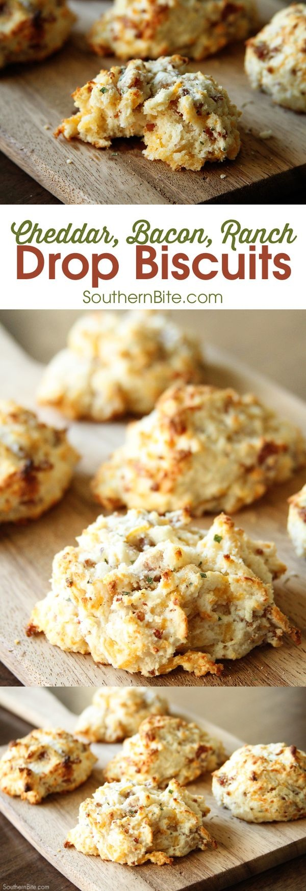Cheddar, Bacon, Ranch Drop Biscuits