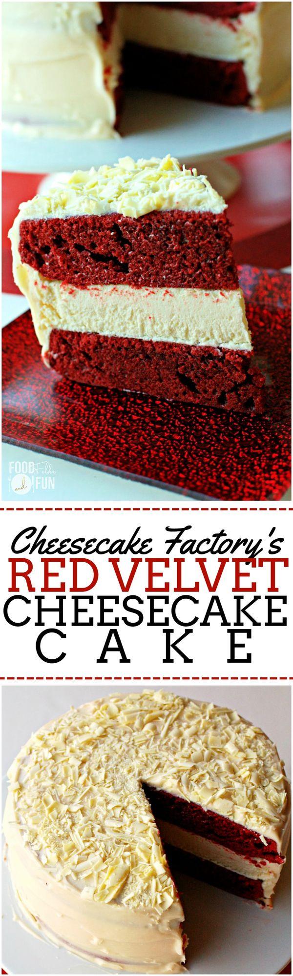 Cheesecake Factory Red Velvet Cheesecake Cake