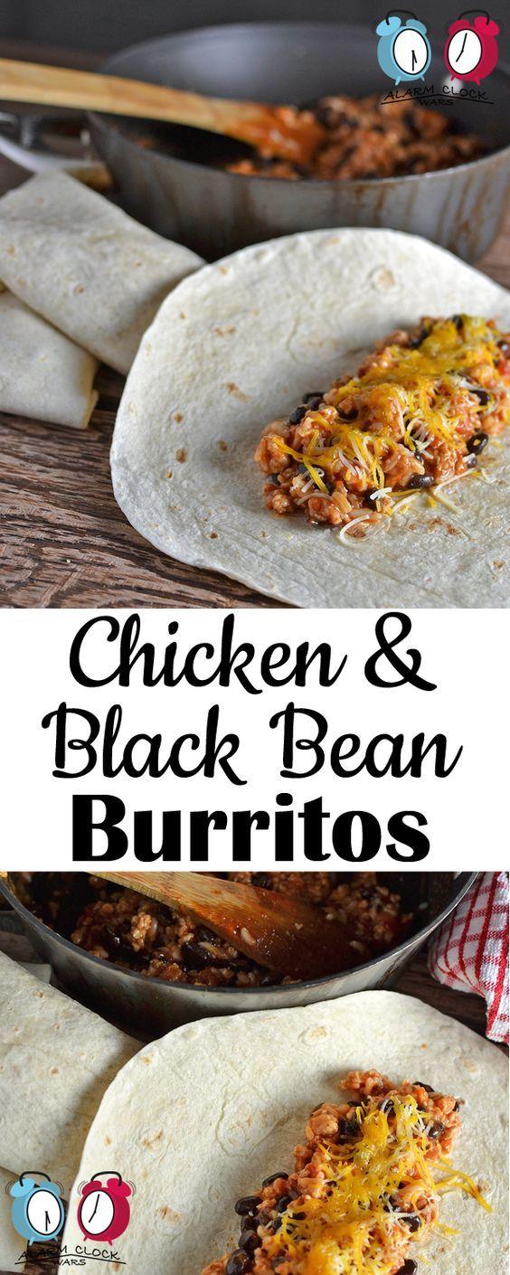 Chicken and Black Bean Burrito